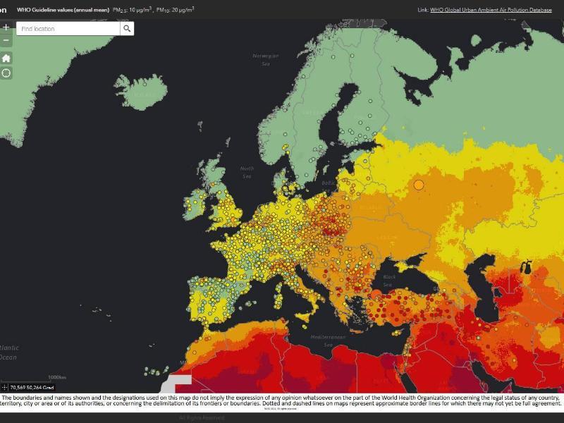 Bild zu Karte für Luftqualität