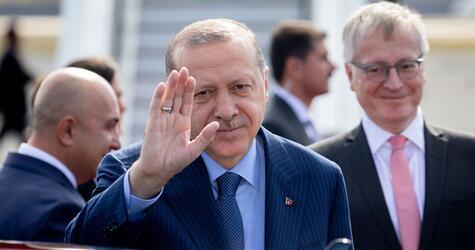 Türkischer Präsident Erdogan in Deutschland