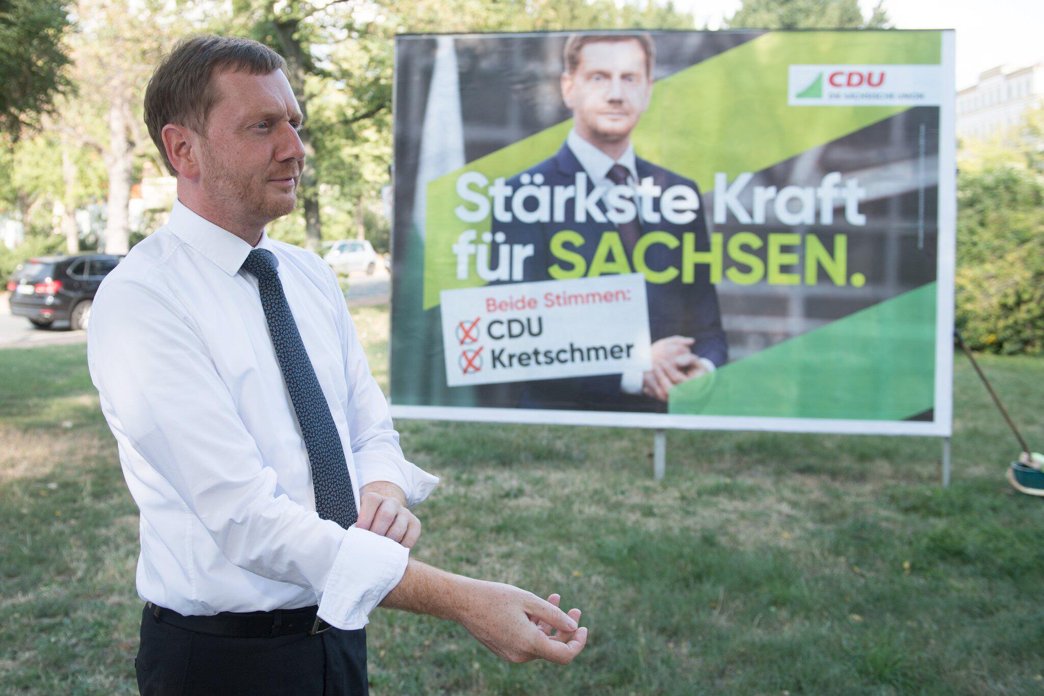 Bild zu Wahlkampf CDU Sachsen