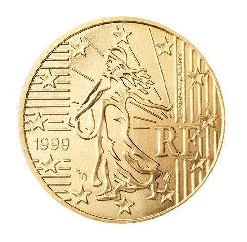 Bild zu 50-Cent-Münze aus Frankreich