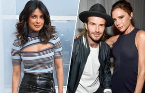 Priyanka Chopra, David Beckham, Victoria Beckham