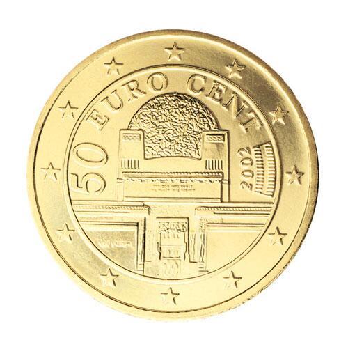 Bild zu 50-Cent-Münze aus Österreich