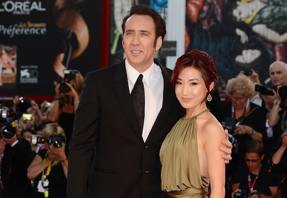 Bild zu Nicolas Cage und Alice Kim bei einer Veranstaltung in Italien