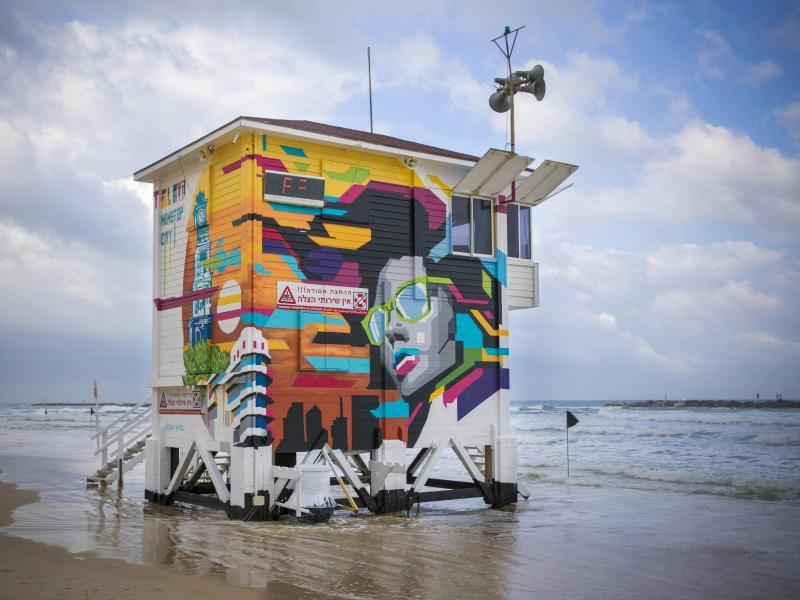 Bild zu Rettungsturm am Strand von Tel Aviv