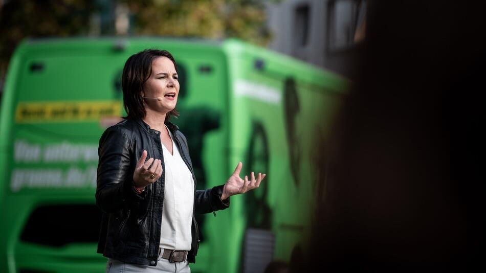Annalena Baerbock auf Wahlkampftour