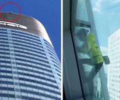 französischer Spiderman, Gebäude, Sicherung, Paris, Frankreich,