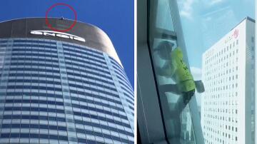 Bild zu französischer Spiderman, Gebäude, Sicherung, Paris, Frankreich,
