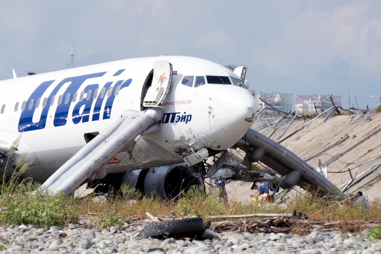 Bild zu Passagierjet macht Bruchlandung in Sotschi