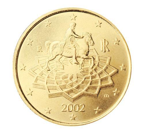 Bild zu 50-Cent-Münze aus Italien