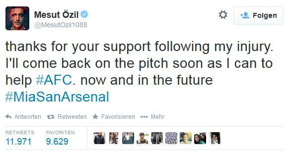 Bild zu Hat Mesut Özil mit diesem Tweet indirekt dem FC Bayern München abgesagt?