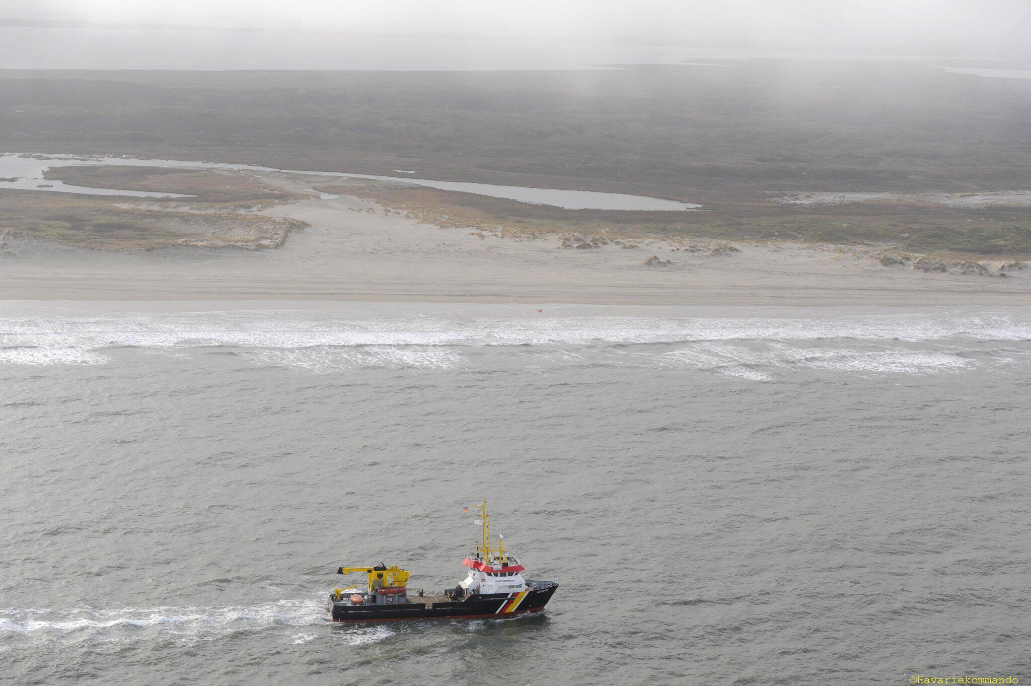 Bild zu Frachter verliert Container in der Nordsee