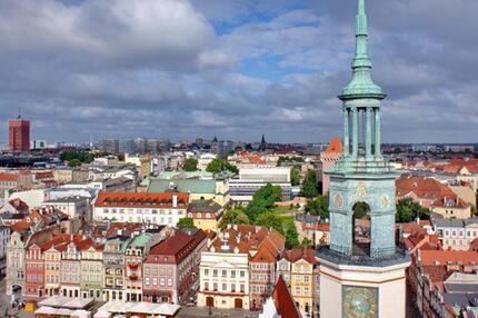Blick auf Poznan