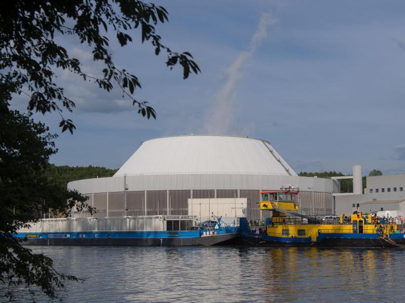 Bild zu Atommüll-Transport in Neckarwestheim angekommen