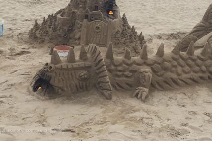 Sandburgenbauen für Fortgeschrittene