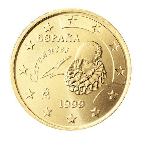Bild zu 50-Cent-Münze aus Spanien