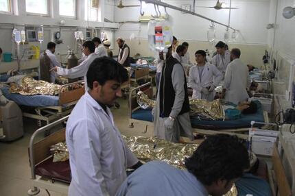 Überfülltes Krankenhaus