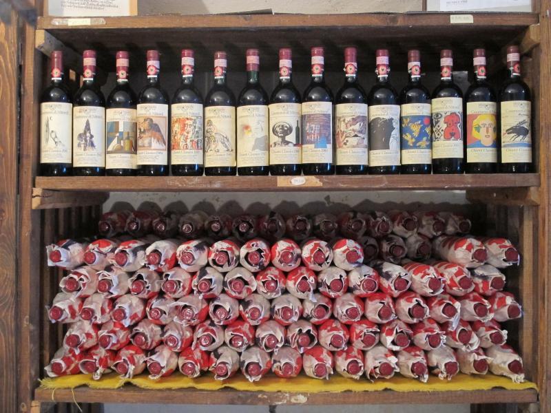 Bild zu Chianti Classico Weinflaschen
