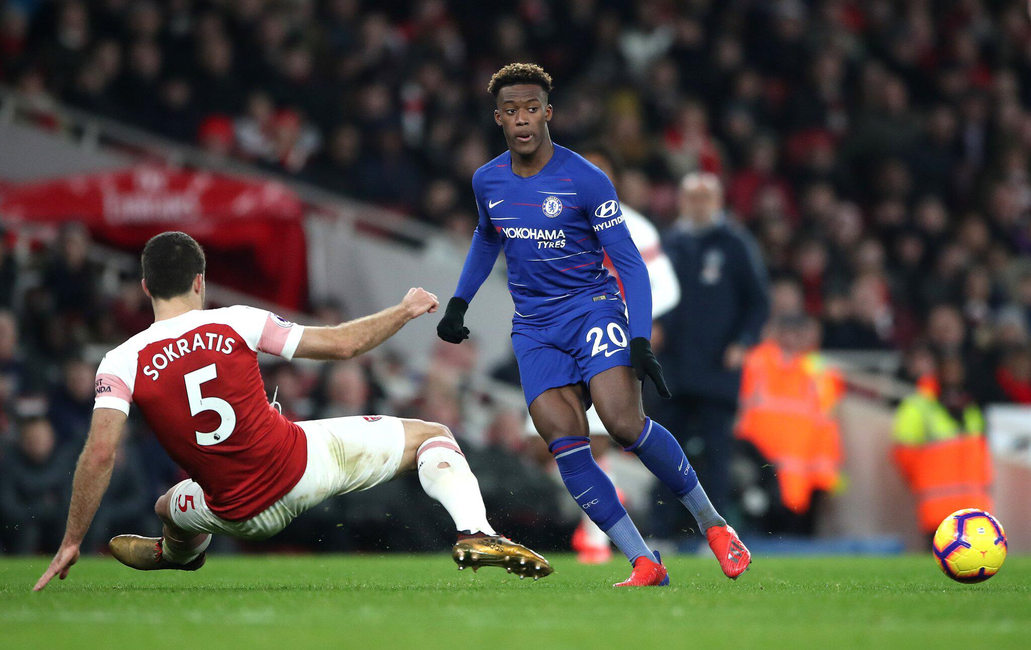 Bild zu Callum Hudson-Odoi, Sokratis Papastathopoulos, FC Arsenal London, FC Chelsea London, Premier League