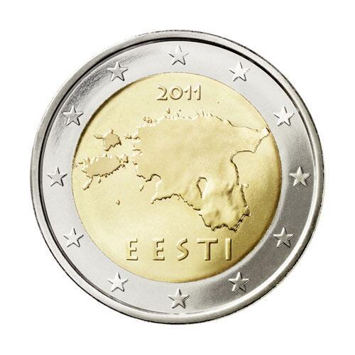 Bild zu 2-Euro-Münze aus Estland