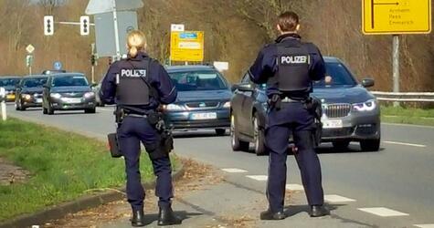 Police checks at the border